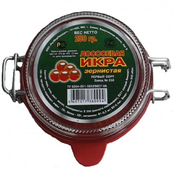 Икра красная лососевая Кета