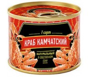 """Мясо Камчатского краба в собственном соку ж/б, """"LUX"""" 240г."""