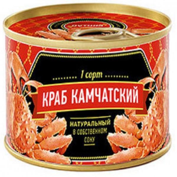 Мясо Камчатского краба в собственном соку